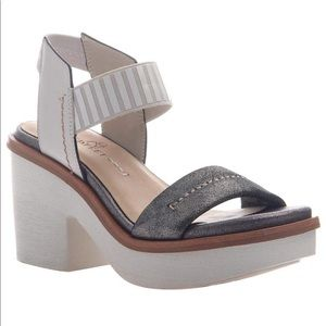 Nakedfeet Basalt heeled sandals